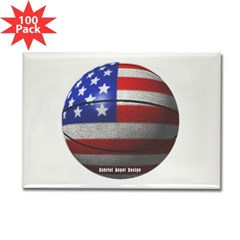 USA Basketball Rectangle Magnet (100 pack)