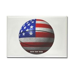 USA Basketball Rectangle Magnet