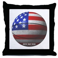 USA Basketball Throw Pillow