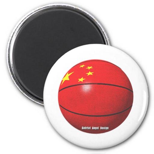 China Basketball 2 Inch Round Magnet