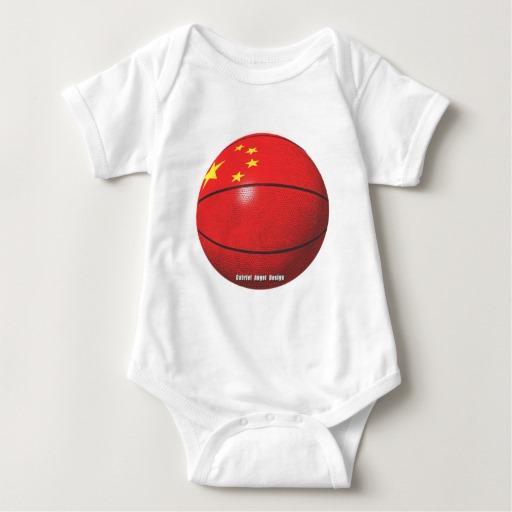 China Basketball Baby Jersey Bodysuit