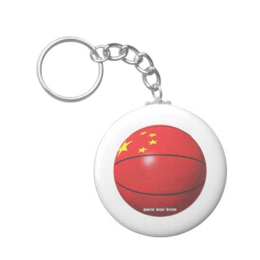 China Basketball Basic Button Keychain