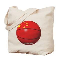 China Basketball Canvas Tote Bag