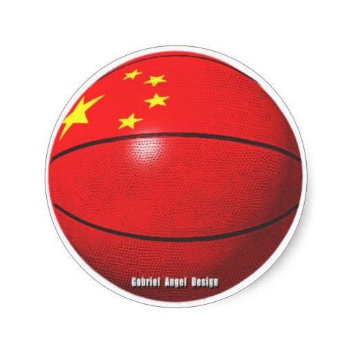 China Basketball Classic Round Sticker