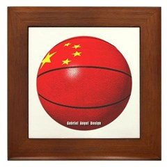 China Basketball Framed Tile