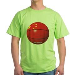 China Basketball Green T-Shirt