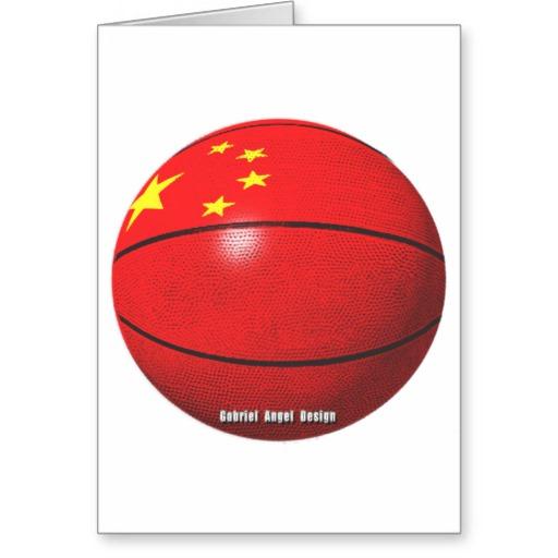 China Basketball Greeting Card