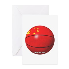 China Basketball Greeting Cards (Pk of 10)