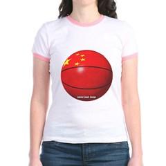 China Basketball Junior Ringer T-Shirt