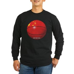 China Basketball Long Sleeve Dark T-Shirt