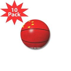 China Basketball Mini Button (10 pack)