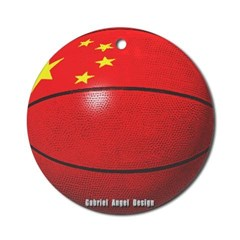China Basketball Ornament (Round)