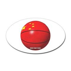 China Basketball Oval Decal