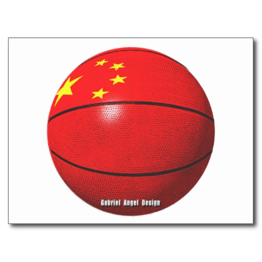 China Basketball Postcard