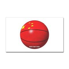 China Basketball Rectangle Decal