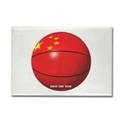 China Basketball Rectangle Magnet