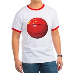 China Basketball Ringer T-Shirt