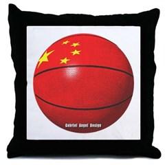 China Basketball Throw Pillow
