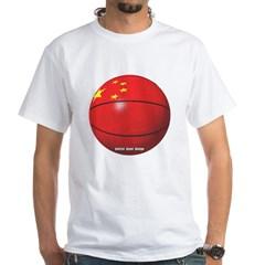 China Basketball White T-Shirt