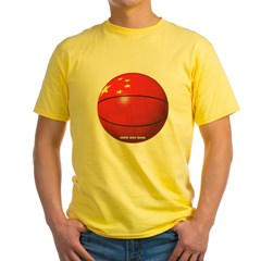 China Basketball Yellow T-Shirt