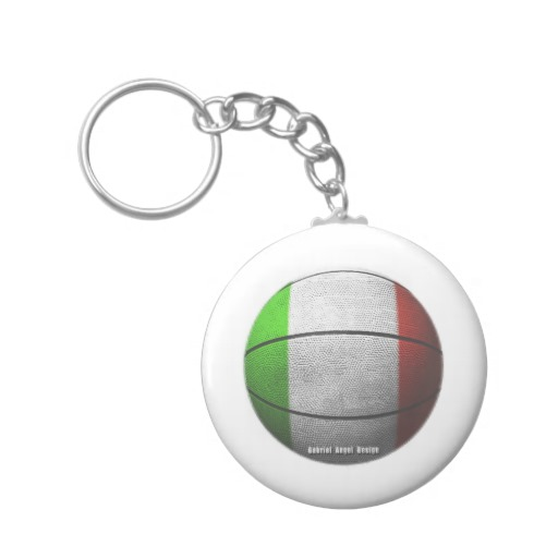 Italian Basketball Basic Button Keychain