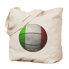 Italian Basketball Canvas Tote Bag