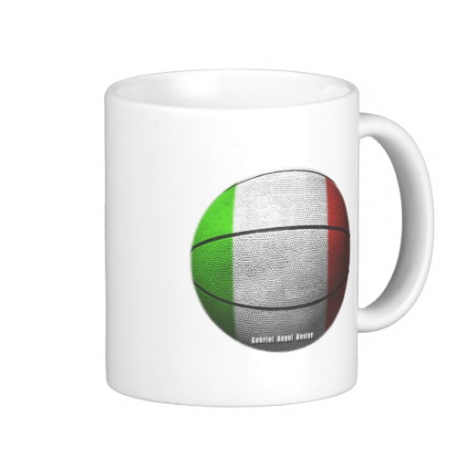 Italian Basketball Classic White Mug