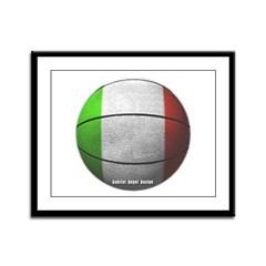 Italian Basketball Framed Panel Print