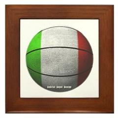 Italian Basketball Framed Tile