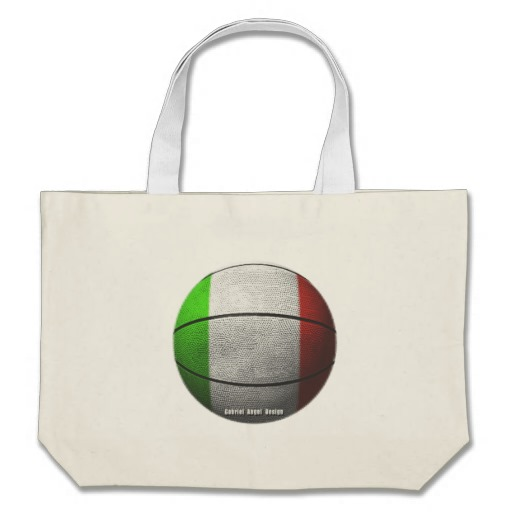 Italian Basketball Jumbo Tote