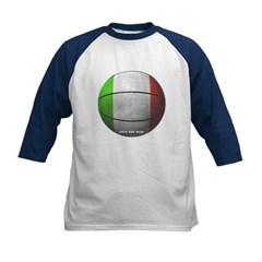 Italian Basketball Kids Baseball Jersey T-Shirt