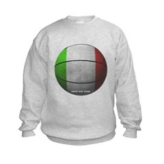 Italian Basketball Kids Crewneck Sweatshirt by Hanes