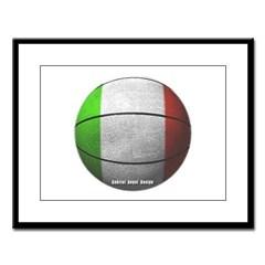 Italian Basketball Large Framed Print