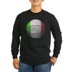 Italian Basketball Long Sleeve Dark T-Shirt