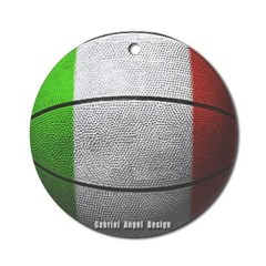 Italian Basketball Ornament (Round)