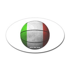 Italian Basketball Oval Decal