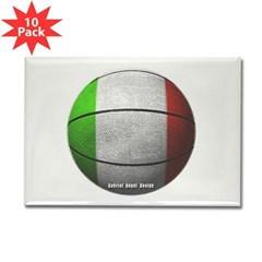 Italian Basketball Rectangle Magnet (10 pack)