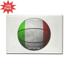 Italian Basketball Rectangle Magnet (100 pack)