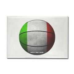 Italian Basketball Rectangle Magnet