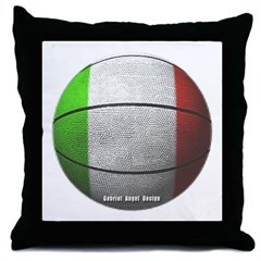 Italian Basketball Throw Pillow