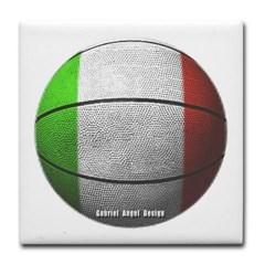 Italian Basketball Tile Coaster
