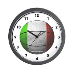 Italian Basketball Wall Clock