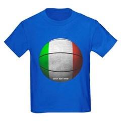 Italian Basketball Youth Dark T-Shirt by Hanes