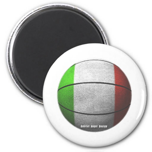 Italy Basketball 2 Inch Round Magnet