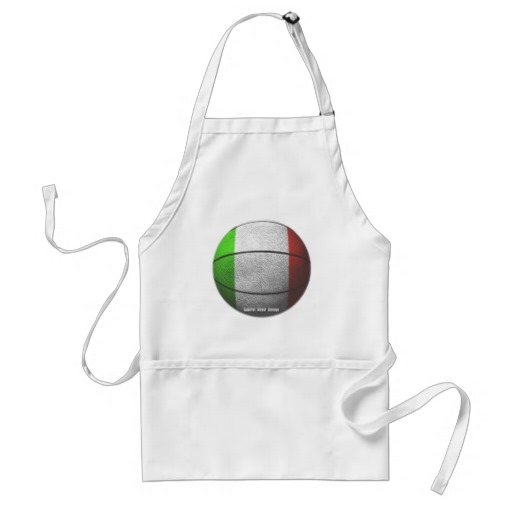 Italy Basketball Adult Apron