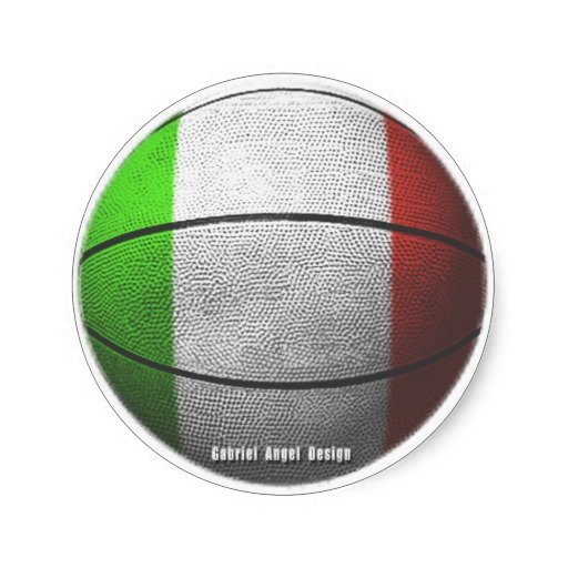 Italy Basketball Classic Round Sticker