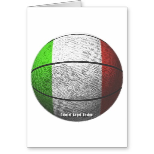Italy Basketball Greeting Card