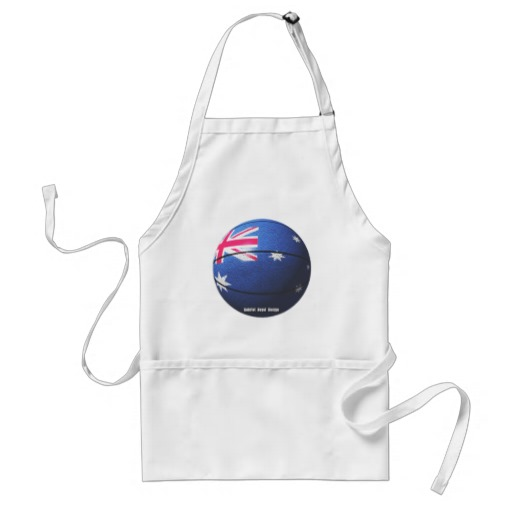 Australia Basketball Adult Apron