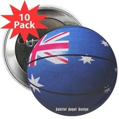 """Australian Basketball 2.25"""" Button (10 pack)"""