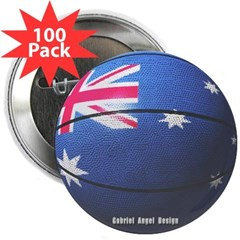 "Australian Basketball 2.25"" Button (100 pack)"